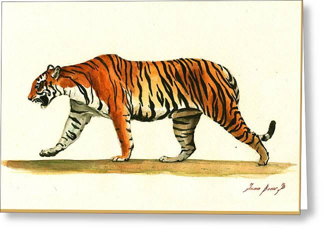 Tiger Animal  Greeting Card by Juan Bosco