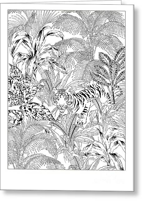 Tiger Black And White Greeting Card