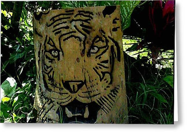 Tiger Greeting Card by Calixto Gonzalez