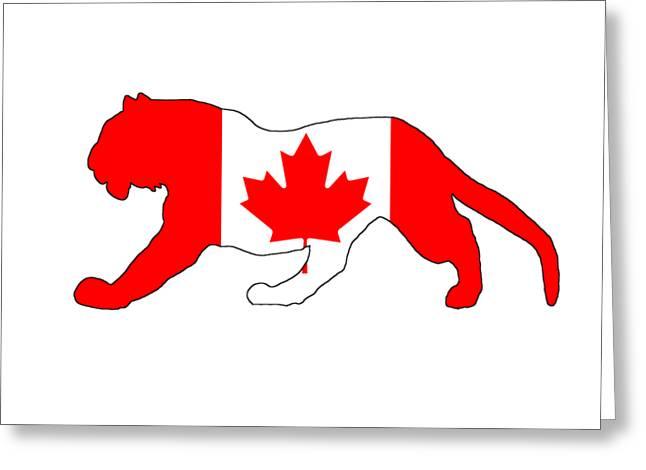 Tiger Canada Greeting Card by Mordax Furittus