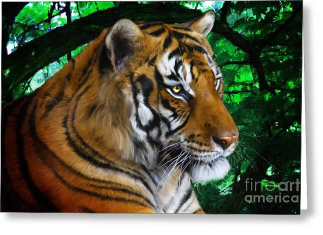 Tiger Contemplation Greeting Card