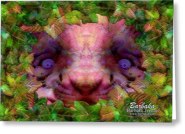 Greeting Card featuring the photograph Tiger Cub by Barbara Tristan