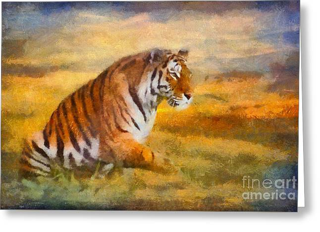 Tiger Dreams Greeting Card