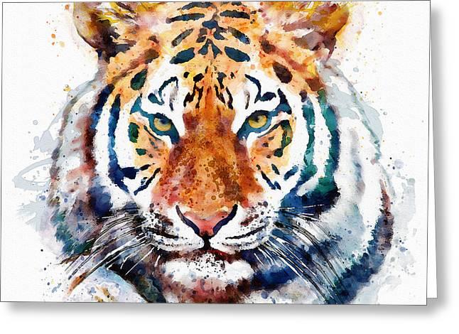 Tiger Head Watercolor Greeting Card