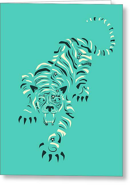 Tiger Greeting Card by Jazzberry Blue