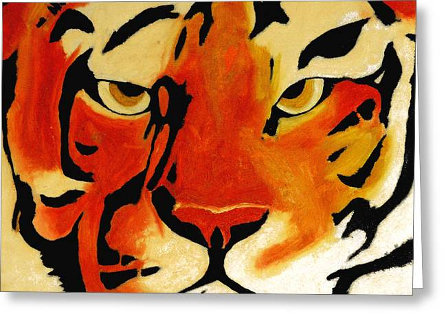 Tiger Greeting Card by Turtle Caps