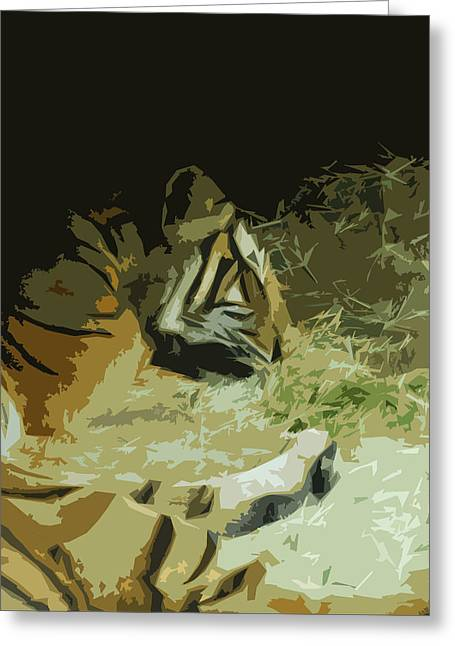 Greeting Card featuring the photograph Tiger by Maggy Marsh