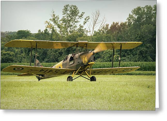 Tiger Moth Greeting Card by Guy Whiteley