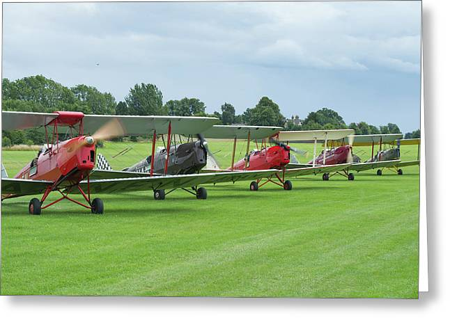Greeting Card featuring the photograph Tiger Moths Formation Shutdown by Gary Eason