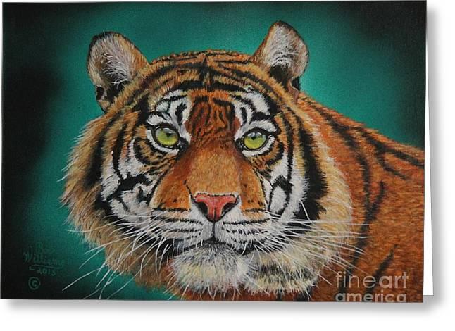 Tiger Portrait......amur Tiger Greeting Card