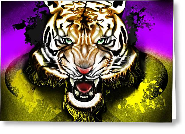 Tiger Rag Greeting Card