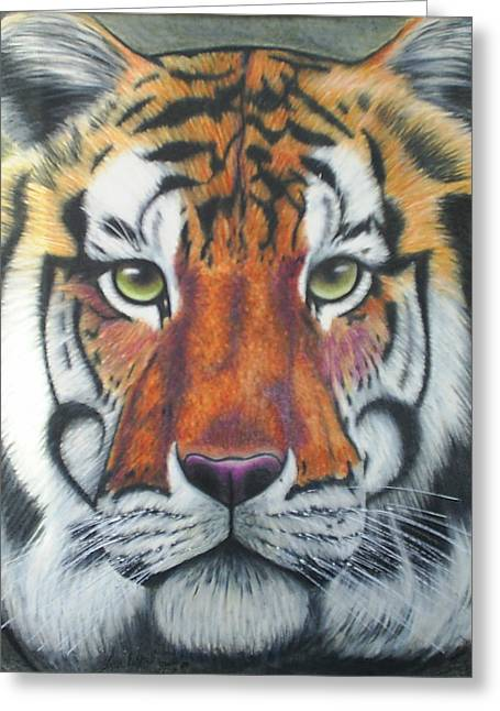 Tiger Greeting Card by Scarlett Royal