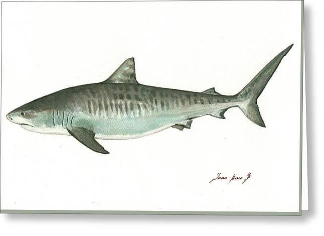 Tiger Shark,  Greeting Card