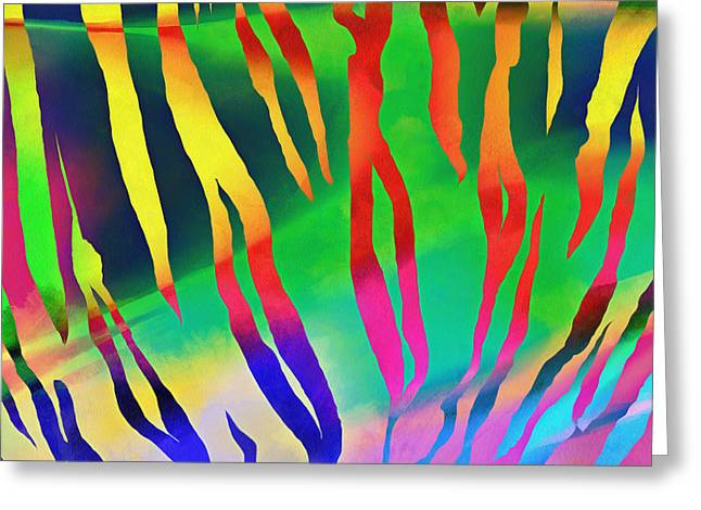 Tiger Skin Pattern Colorful Greeting Card by Edward Fielding