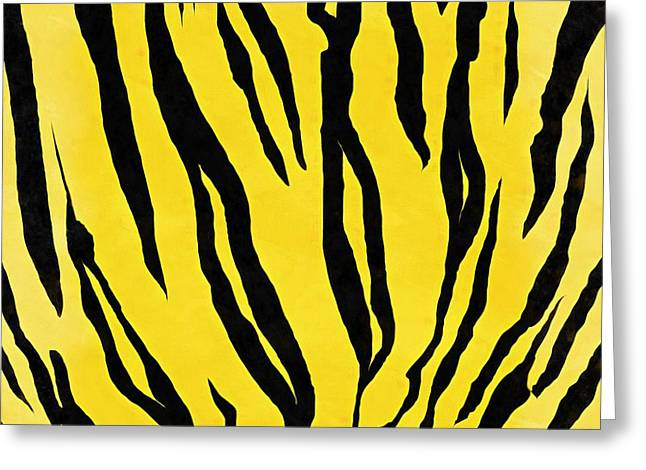 Tiger Skin Square Greeting Card by Edward Fielding