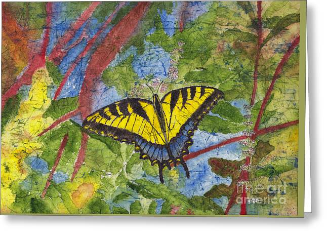 Tiger Swallowtail Watercolor Batik On Rice Paper Greeting Card