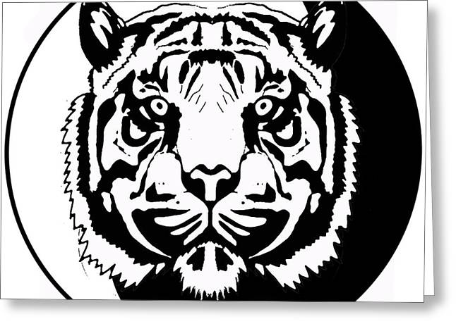 Tiger Symbol Greeting Card by Stephen Humphries