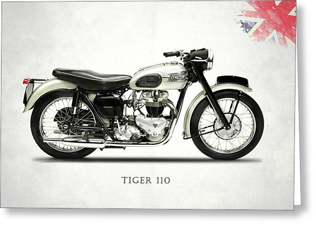 Tiger T110 1957 Greeting Card by Mark Rogan