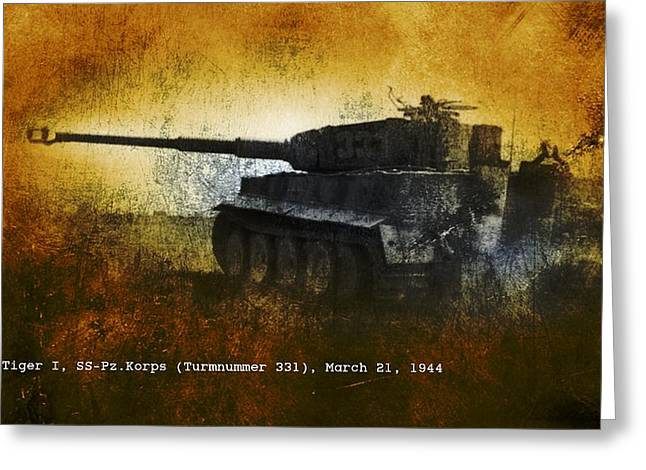 Greeting Card featuring the digital art Tiger Tank by John Wills