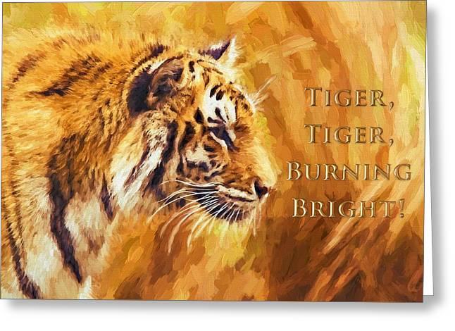 Tiger Tiger Burning Bright Greeting Card