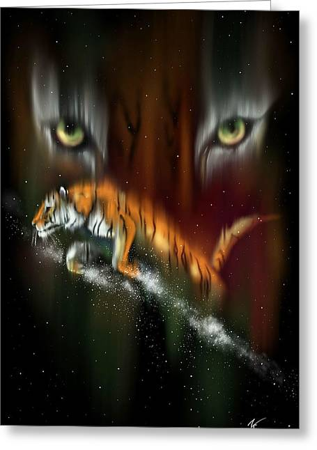 Tiger, Tiger Burning Bright Greeting Card