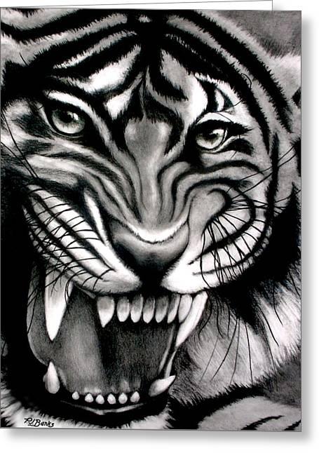 Tiger Tiger Shining Bright Greeting Card