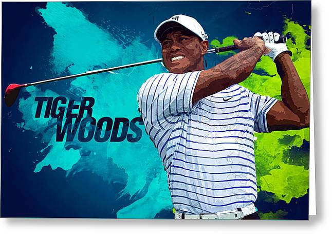 Tiger Woods Greeting Card