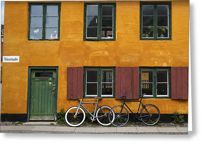 Tigergade Apartment Scene Greeting Card by Eric Nielsen