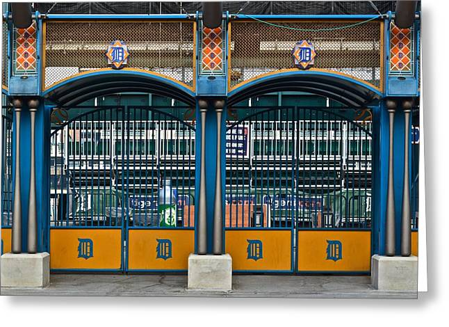 Tigers Baseball Greeting Card by Frozen in Time Fine Art Photography