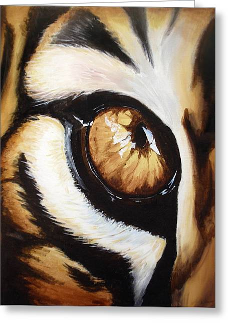 Tiger's Eye Greeting Card by Lane Owen