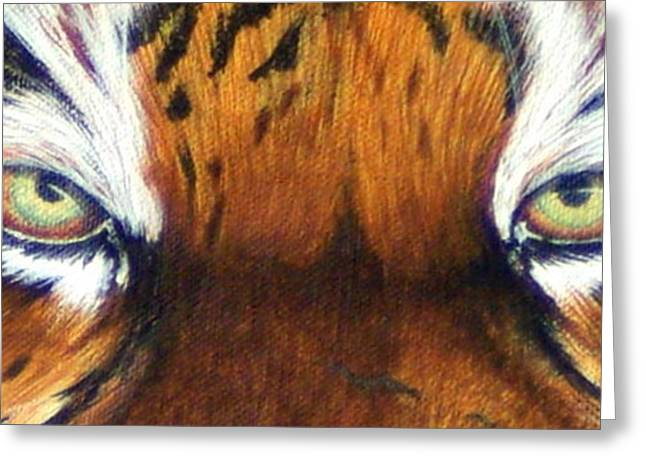 The Tiger Greeting Cards - Tigers Eye Two Greeting Card by Laurie Bath