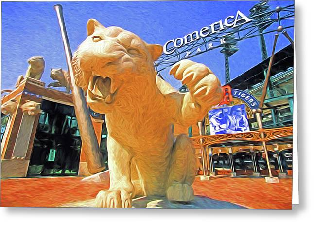 Tigers Park  Greeting Card by Dennis Cox Photo Explorer