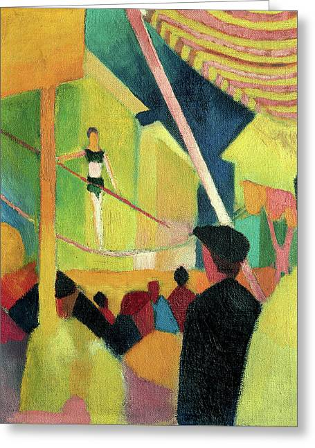 Tightrope Artist Greeting Card by August Macke