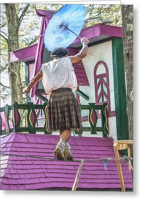 Tightrope Walker Greeting Card by Black Brook Photography