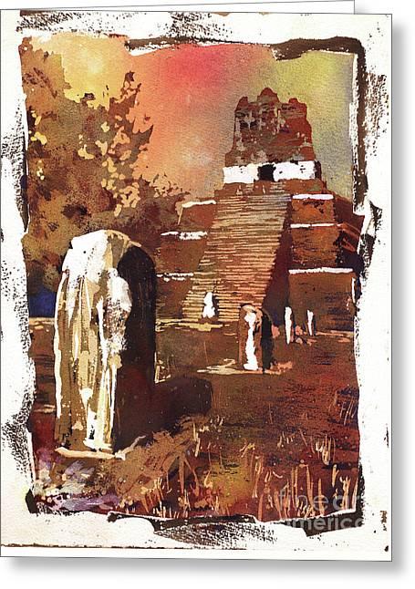 Tikal Mayan Ruins- Guatemala Greeting Card by Ryan Fox