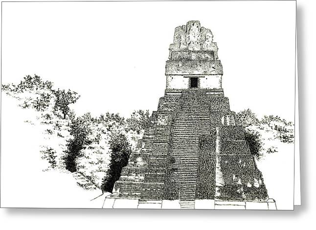 Tikal Temple I Greeting Card