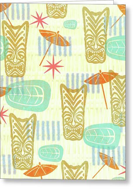 Tiki Beach Greeting Card