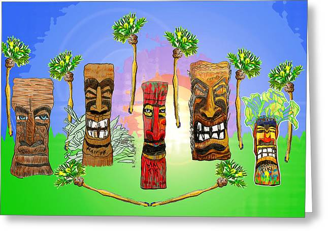 Tiki Garden Greeting Card
