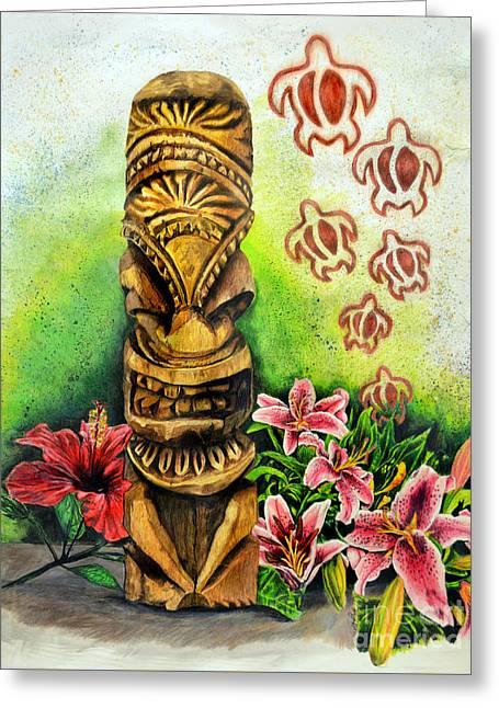 Tiki Still Life 2 Greeting Card
