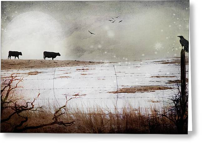 'til The Cows Come Home Greeting Card by Theresa Tahara