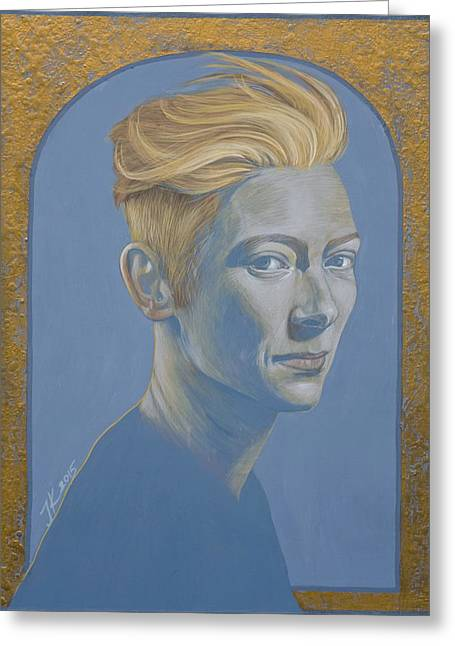 Tilda Swinton Greeting Card