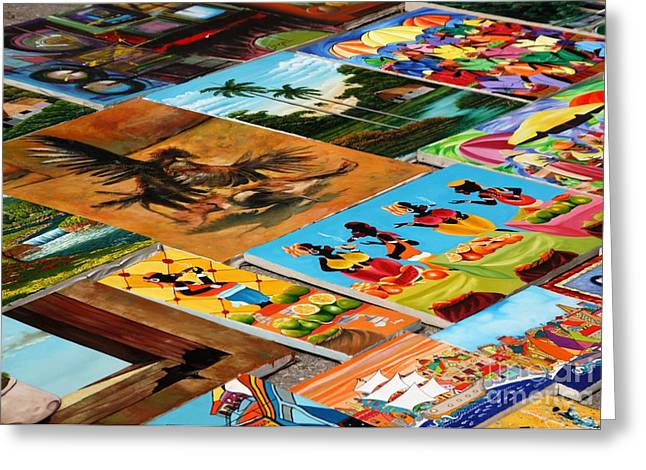 Tiled Canvasses Greeting Card by Andy Smy