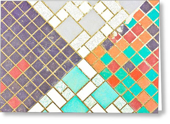 Tiled Surface Greeting Card