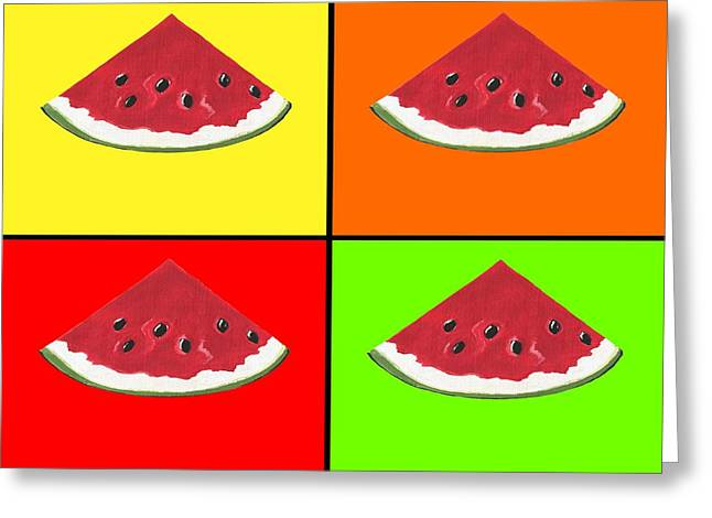 Tiled Watermelon Greeting Card
