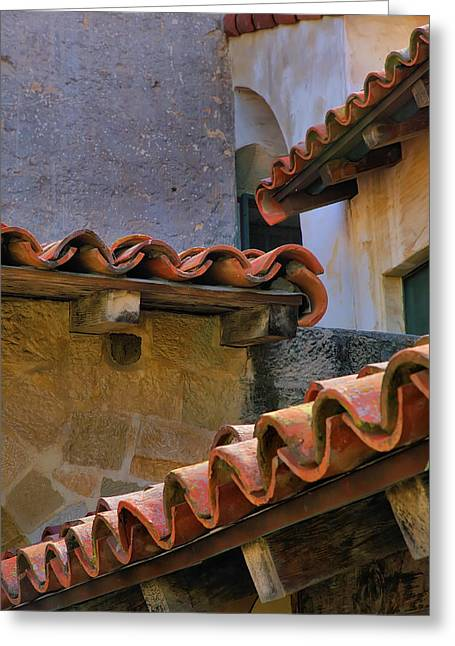 Tiles And Textures Greeting Card by Steven Ainsworth