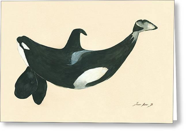 Tilikum Killer Whale Greeting Card by Juan Bosco