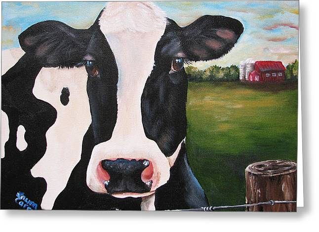 Till The Cows Come Home Greeting Card by Laura Carey