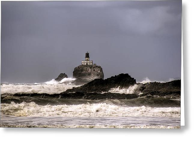 Tillamook Lighthouse Greeting Card by Brad Granger