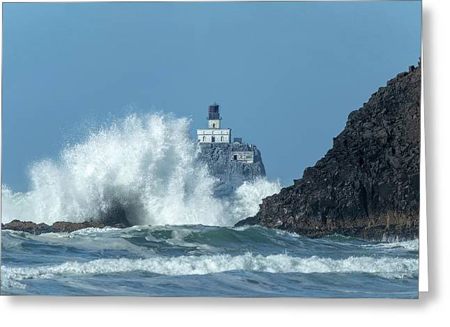Tillamook Rock Light House, Oregon - Terrible Tilly Greeting Card