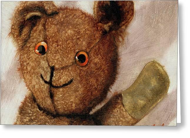 Tillie - Vintage Bear Painting Greeting Card